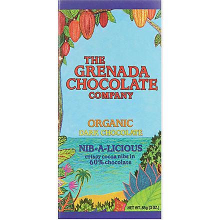 COCOA HERNANDO Nib-a-licious organic dark chocolate bar 85g