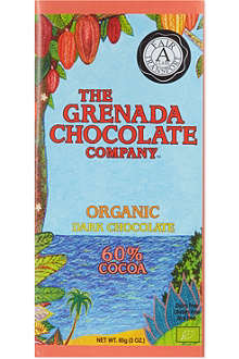 GRENADA CHOCOLATE Organic 60% cocoa dark chocolate 85g