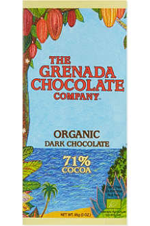 GRENADA CHOCOLATE Organic 71% cocoa dark chocolate bar 85g
