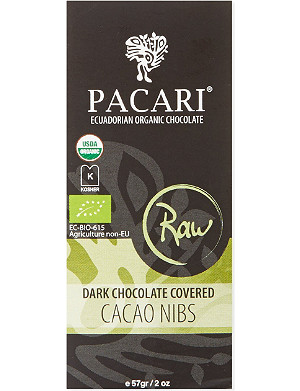 PACARI Raw dark chocolate cacao nibs 57g