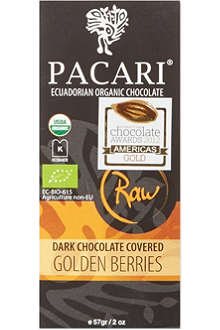 PACARI Raw dark chocolate golden berries 57g