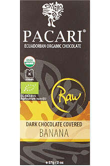 PACARI Raw dark chocolate covered banana 57g