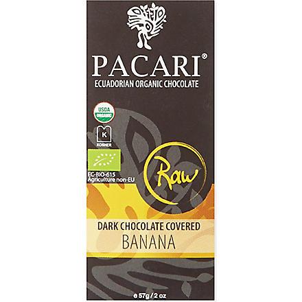PACARI Raw dark chocolate covered banana 57g