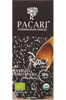 PACARI Andean raw organic blueberry chocolate 50g