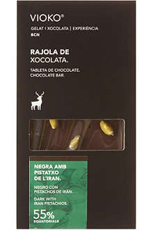 VIOKO Dark chocolate with pistachios 100g