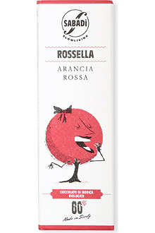 SABADI Rosella organic Modica dark chocolate with sicilian red orange zest 50g