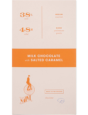 NAIVE Milk chocolate with salted caramel 70g