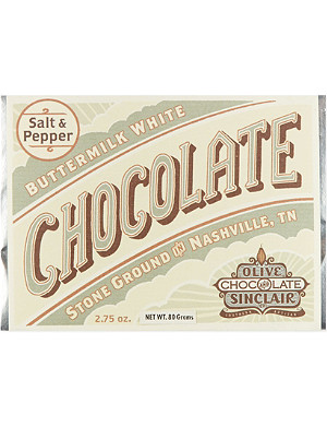 OLIVE & SINCLAIR Salt and pepper buttermilk white chocolate 80g