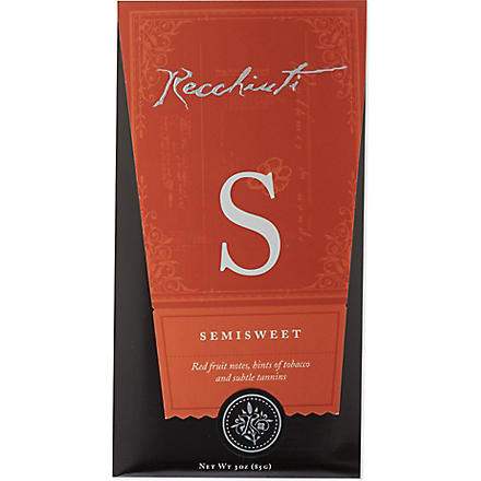 RECCHIUTI Semi-sweet chocolate bar 85g