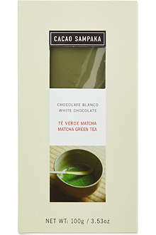 CACAO SAMPAKA White chocolate with matcha green tea 100g