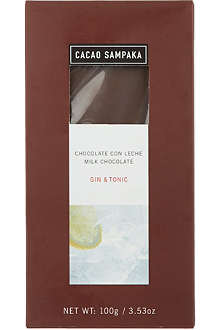 CACAO SAMPAKA Milk chocolate with gin & tonic 100g