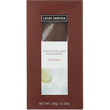 CACAO SAMPAKA Milk chocolate with gin & tonic 100g