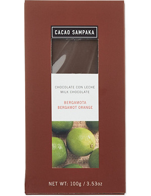 CACAO SAMPAKA Milk chocolate with bergamot orange 100g