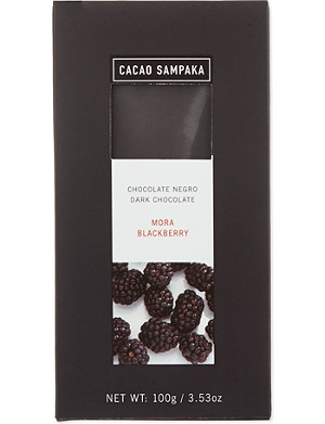 CACAO SAMPAKA Dark chocolate with blackberry 100g