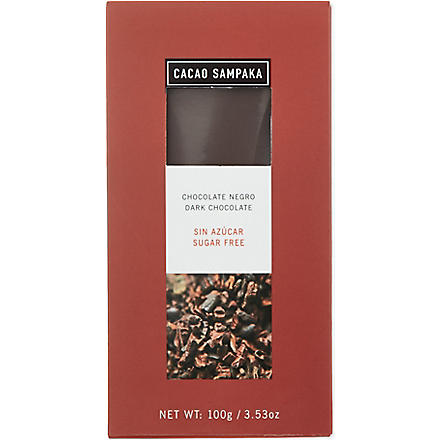 CACAO SAMPAKA Sugar free dark chocolate 100g