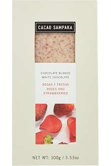 CACAO SAMPAKA White chocolate with roses and strawberries 100g
