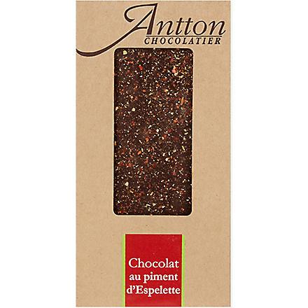 ANTTON Dark chocolate with Espelette chilli pepper 100g