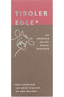TIROLER EDLE Plum brandy filled chocolate 50g
