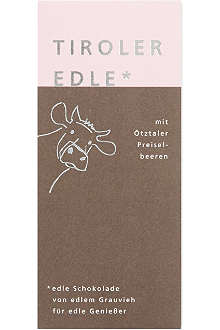 TIROLER EDLE Chocolate with cranberries 50g