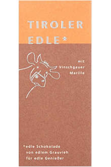 TIROLER EDLE Chocolate with apricot filling 50g