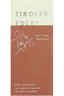 TIROLER EDLE Chocolate with roasted walnut filling 50g