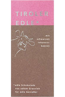 TIROLER EDLE Blackcurrant filled chocolate 50g