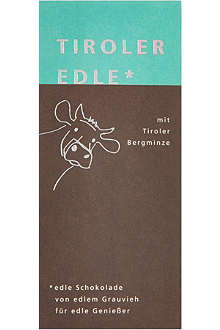TIROLER EDLE Chocolate with mountain mint 50g
