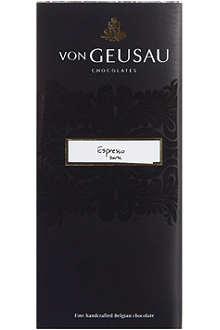 VON GEUSAU Dark chocolate espresso bar 110g