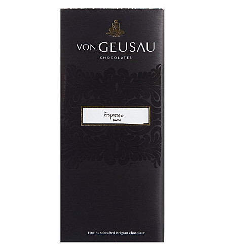 VON GEUSAU Dark chocolate espresso bar 110g