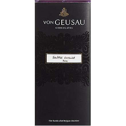 VON GEUSAU Salted caramel dark chocolate bar 110g