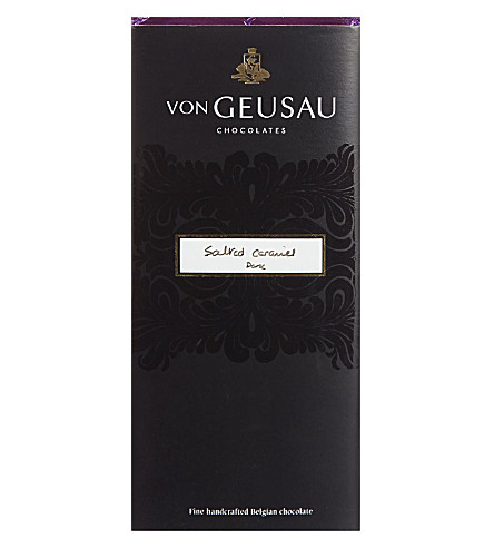 VON GEUSAU Salted caramel dark chocolate bar 110g