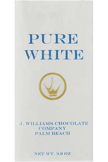 J WILLIAMS Pure White chocolate bar 100g