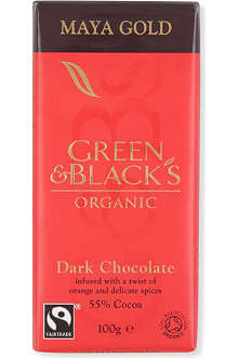 GREEN & BLACKS Maya Gold Dark chocolate bar 100g
