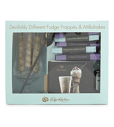 FUDGE KITCHEN Drinking fudge frappe gift set 232g