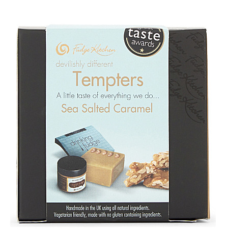 FUDGE KITCHEN Sea salted caramel tasting cube 205g