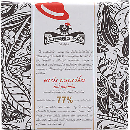 ROZSAVOLGYI Dark chocolate with hot paprika 70g