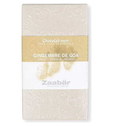 ZAABAR Gingembre De Goa dark chocolate bar 70g