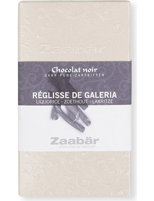 ZAABAR Liquorice of Galeria Duo dark chocolate bar 70g