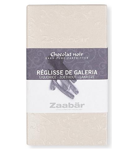 ZAABAR Liquorice of Galeria Duo dark chocolate bar 70g