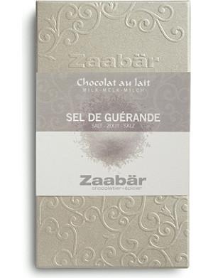 ZAABAR Guerande sea salt Duo milk chocolate bar 70g