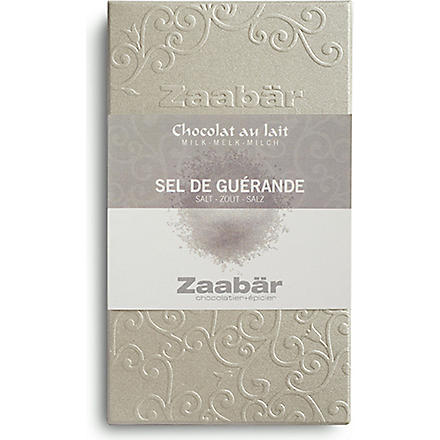 ZAABAR Guerande sea salt Duo milk chocolate bar 70g