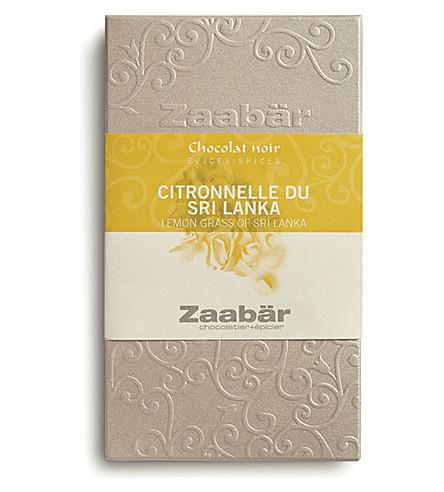 ZAABAR Lemongrass of Sri Lanka Duo dark chocolate bar 70g