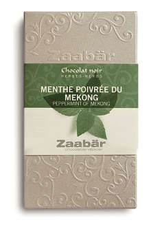 ZAABAR Peppermint of Mekong dark chocolate bar 70g