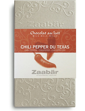 ZAABAR Chili Pepper du Texas Duo milk chocolate bar 70g