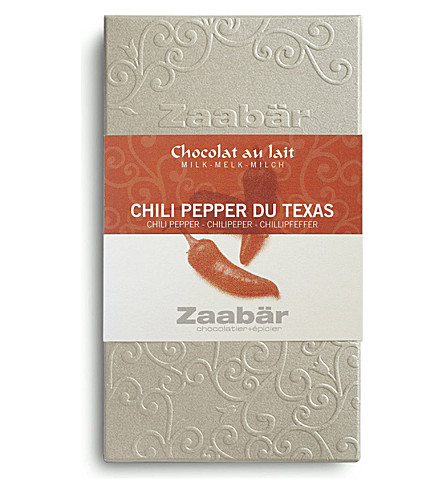 ZAABAR Chili Pepper du Texas Duo milk chocolate bar 70g