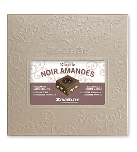 ZAABAR Classic dark chocolate bar with almonds