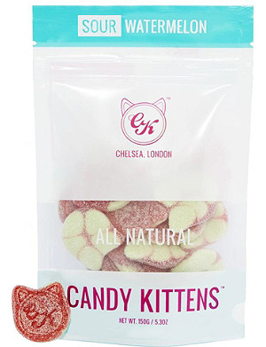 CANDY KITTENS Sour watermelon gummy sweets 150g