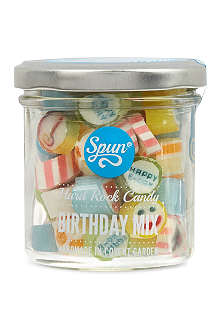 SPUN CANDY Hard rock birthday mix jar 100g