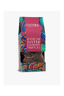 COCOBA Dusted raspberry truffles 200g