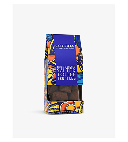 COCOBA Dusted salt toffee truffles 200g